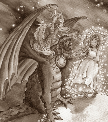 dragon cut sepia