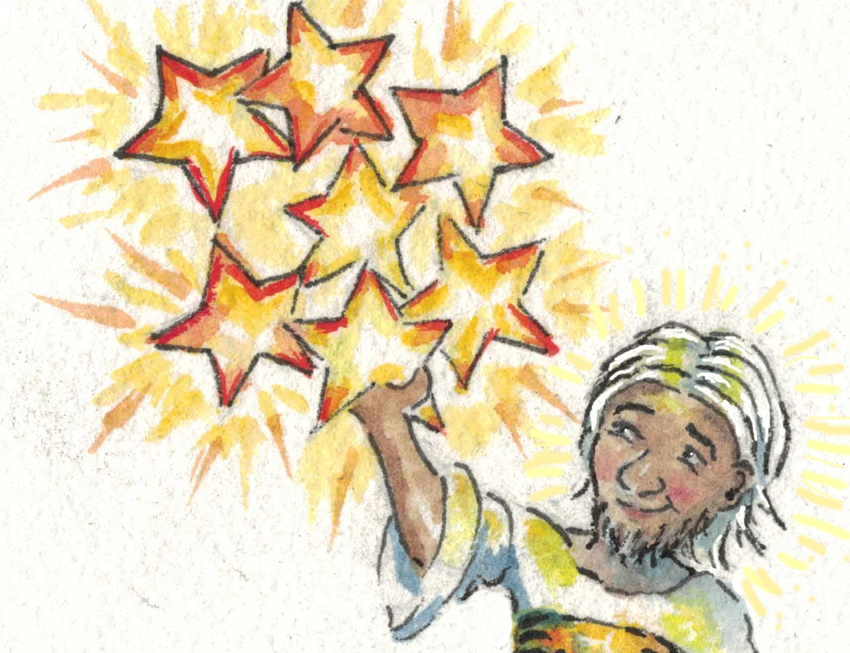 stars in hand