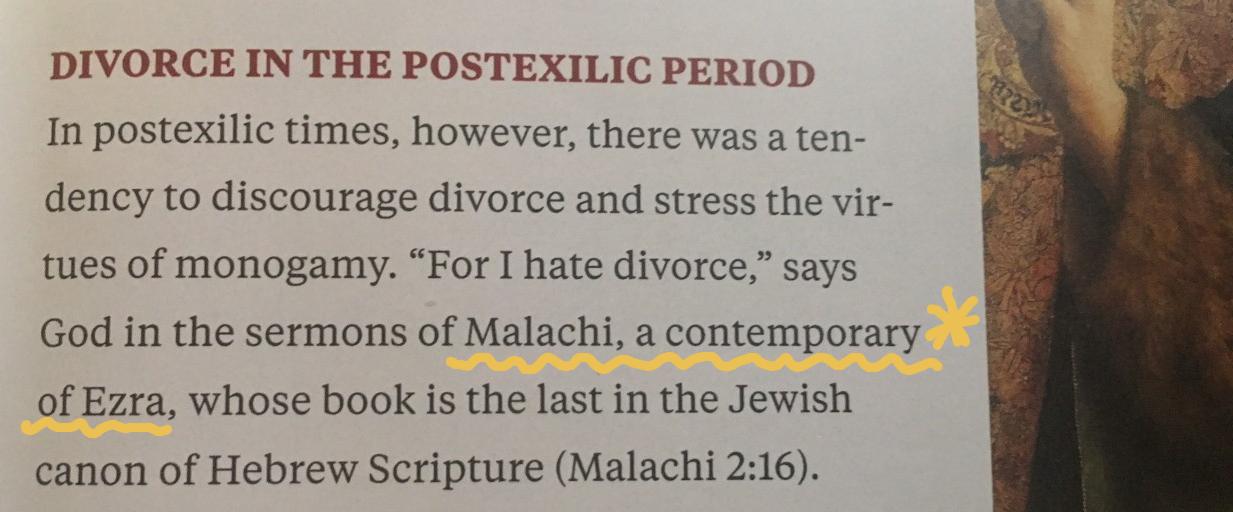 Malachi contemporary with Ezra NG